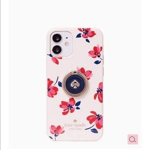 Kate Spade iPhone 12 MINI ring stand and case NEW